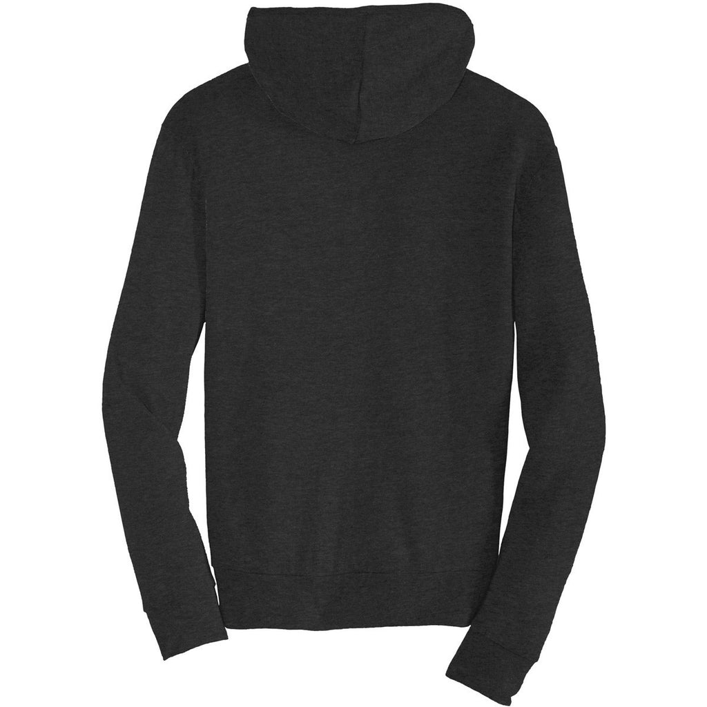 Alternative Men's True Black Eco-Jersey Zip Hoodie
