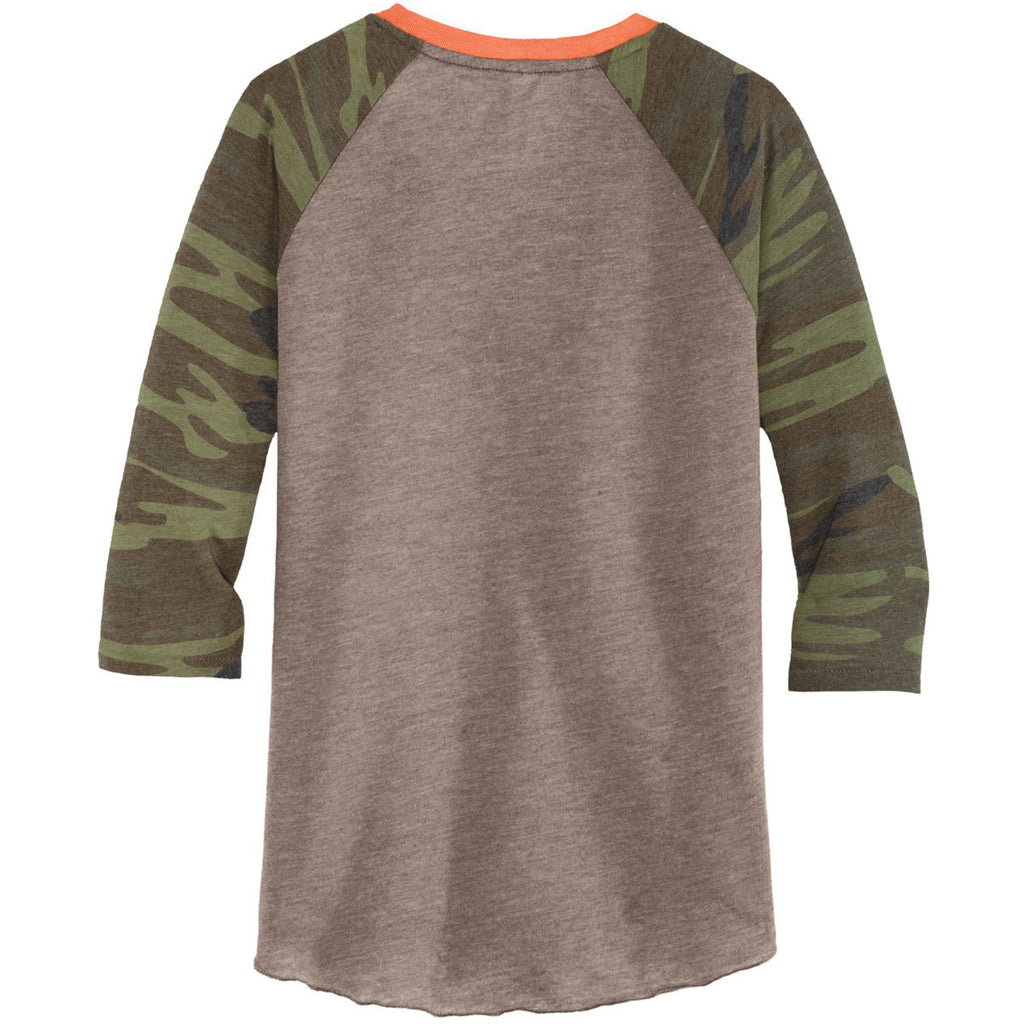 Alternative Men's Camo Eco-Jersey Baseball T-Shirt