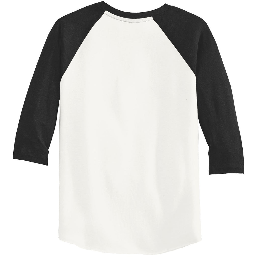 Alternative Men's Ivory/True Black Eco-Jersey Baseball T-Shirt
