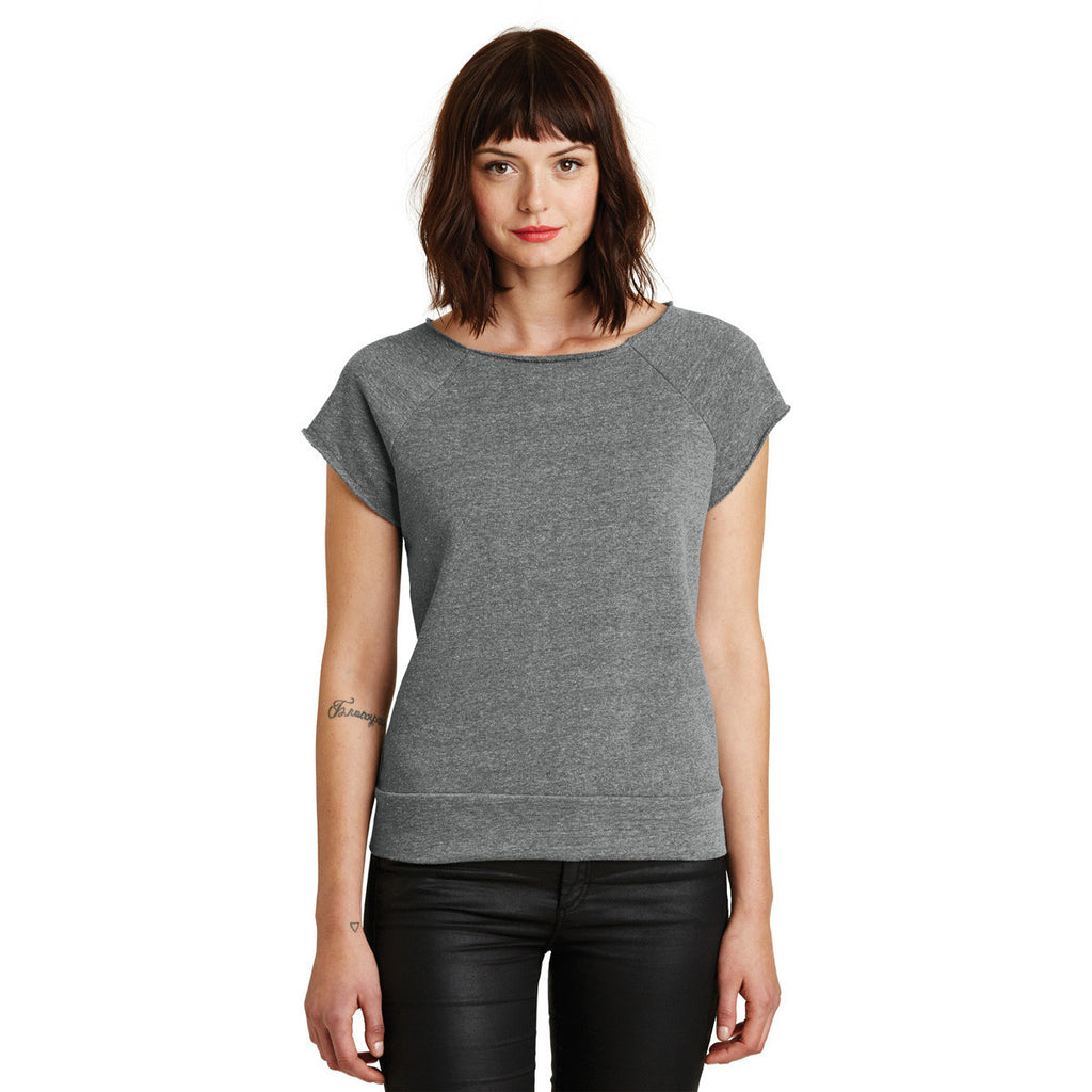 Alternative Women's Eco Grey Rehearsal Short Sleeve Pullover Sweatshirt