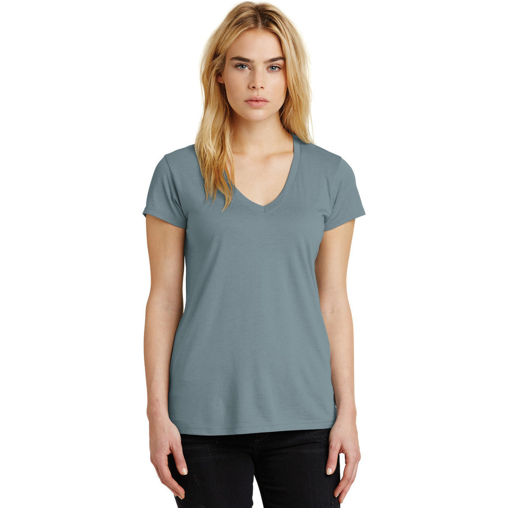 Alternative Women's Blue Fog Everyday Cotton Modal V-Neck