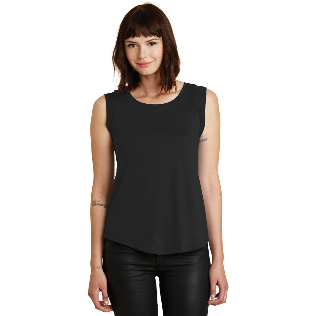 Alternative Women's Black Cap Sleeve Satin Jersey Crew T-Shirt
