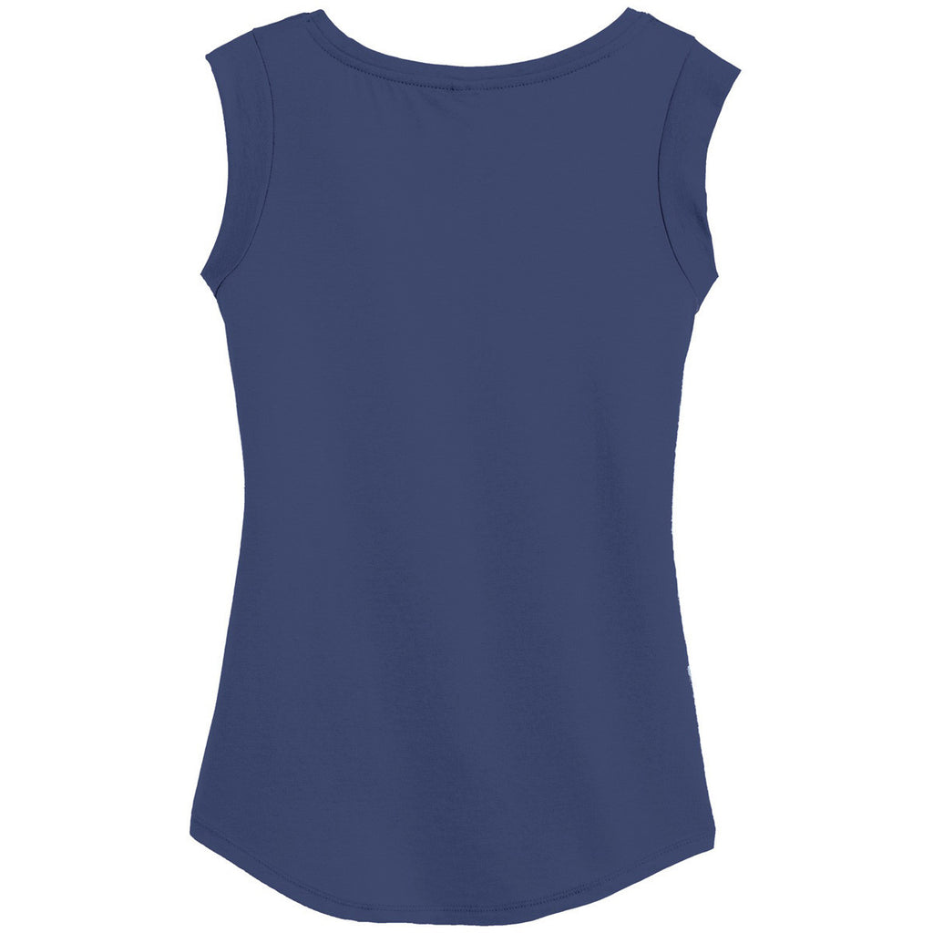 Alternative Women's Navy Cap Sleeve Satin Jersey Crew T-Shirt