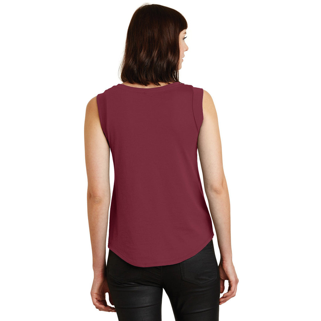 Alternative Women's Redwood Cap Sleeve Satin Jersey Crew T-Shirt