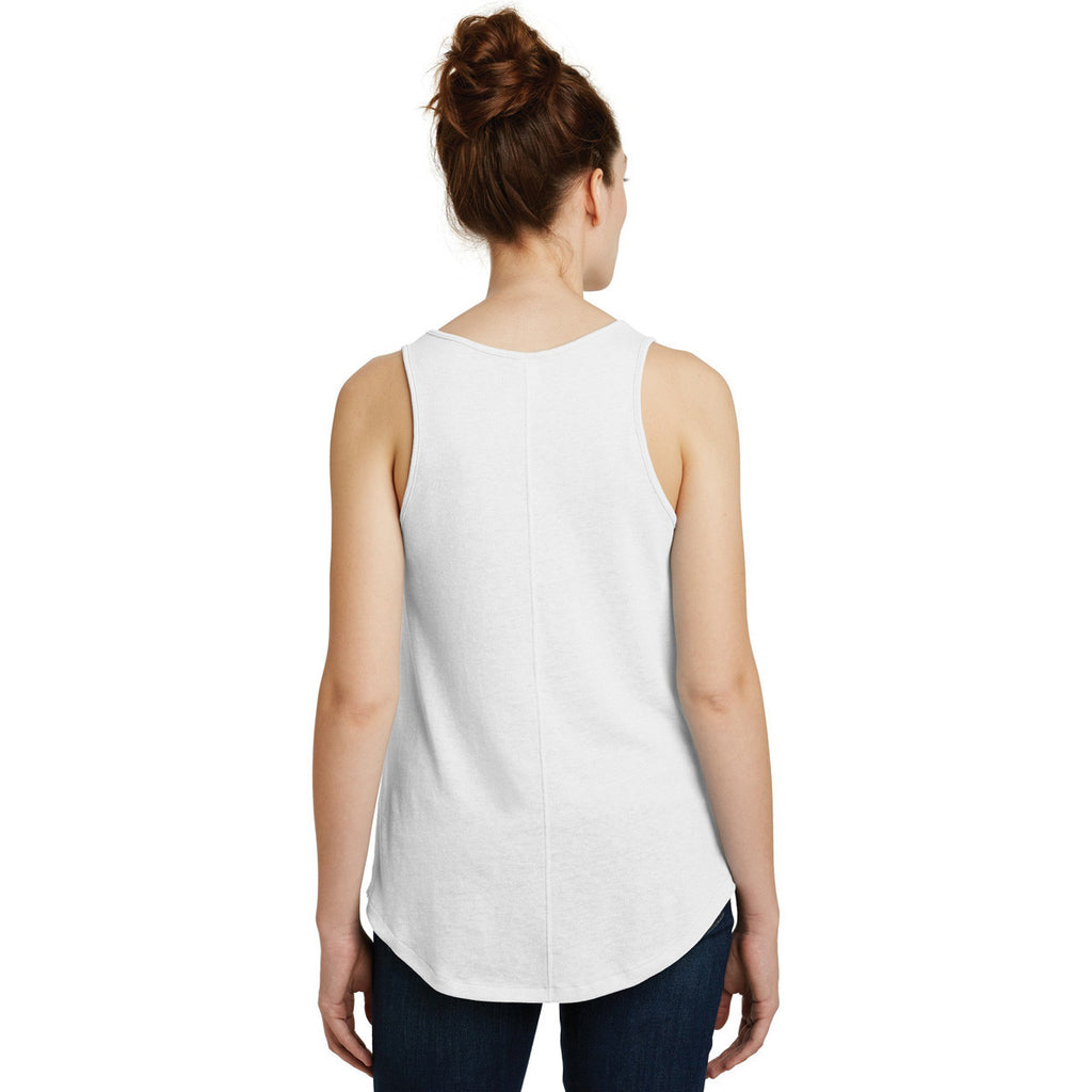 Alternative Women's White Backstage Vintage 50/50 Tank