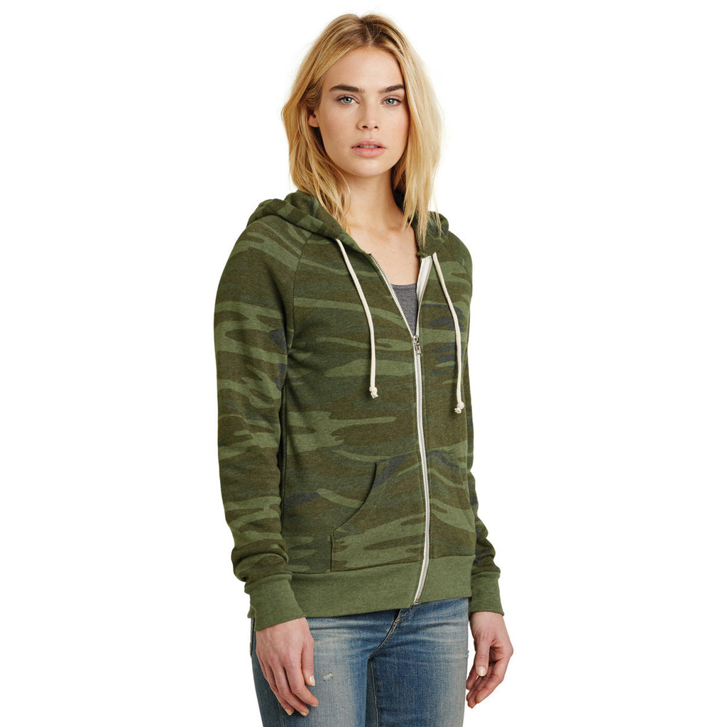 Alternative Women's Camo Adrian Eco-Fleece Zip Hoodie