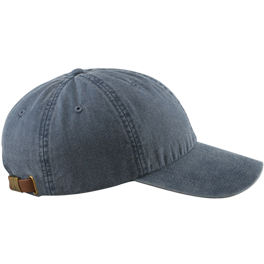 4ef1aed5f69eb Adams Navy 6 Panel Low-Profile Washed Pigment-Dyed Cap