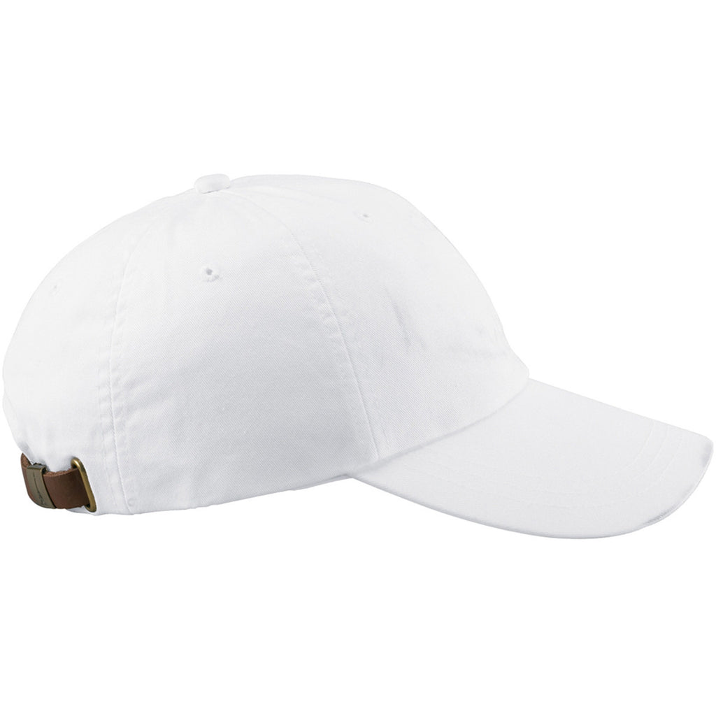 Adams White 6 Panel Low-Profile Washed Pigment-Dyed Cap 8e79a274ebc5