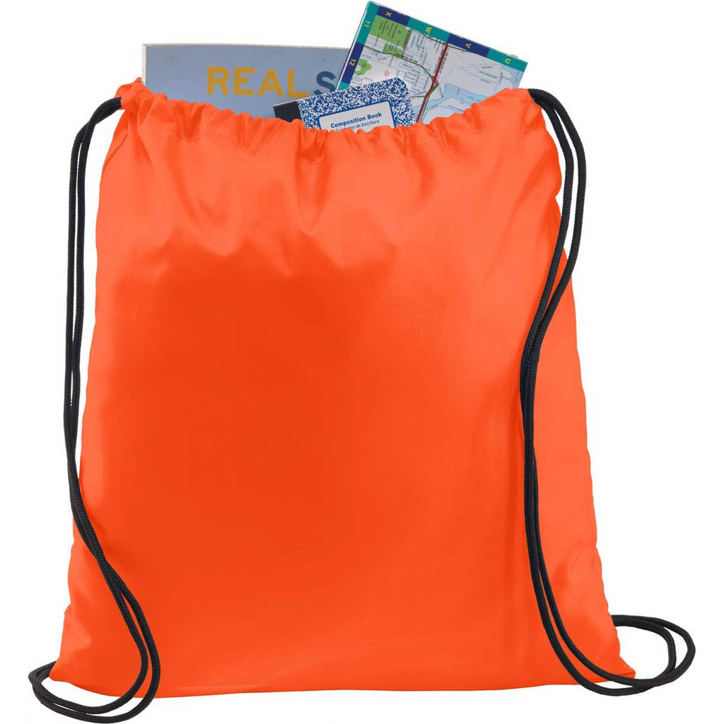 Port Authority Orange Ultra-Core Cinch Pack