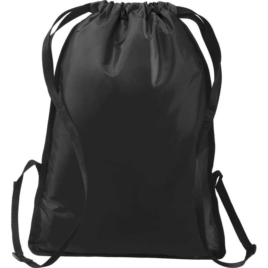 Port Authority Black/Black Zip-It Cinch Pack