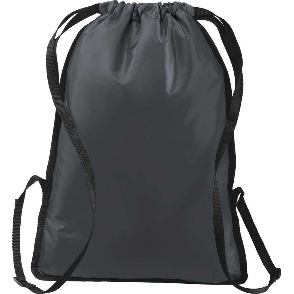 Port Authority Graphite Grey/Black Zip-It Cinch Pack