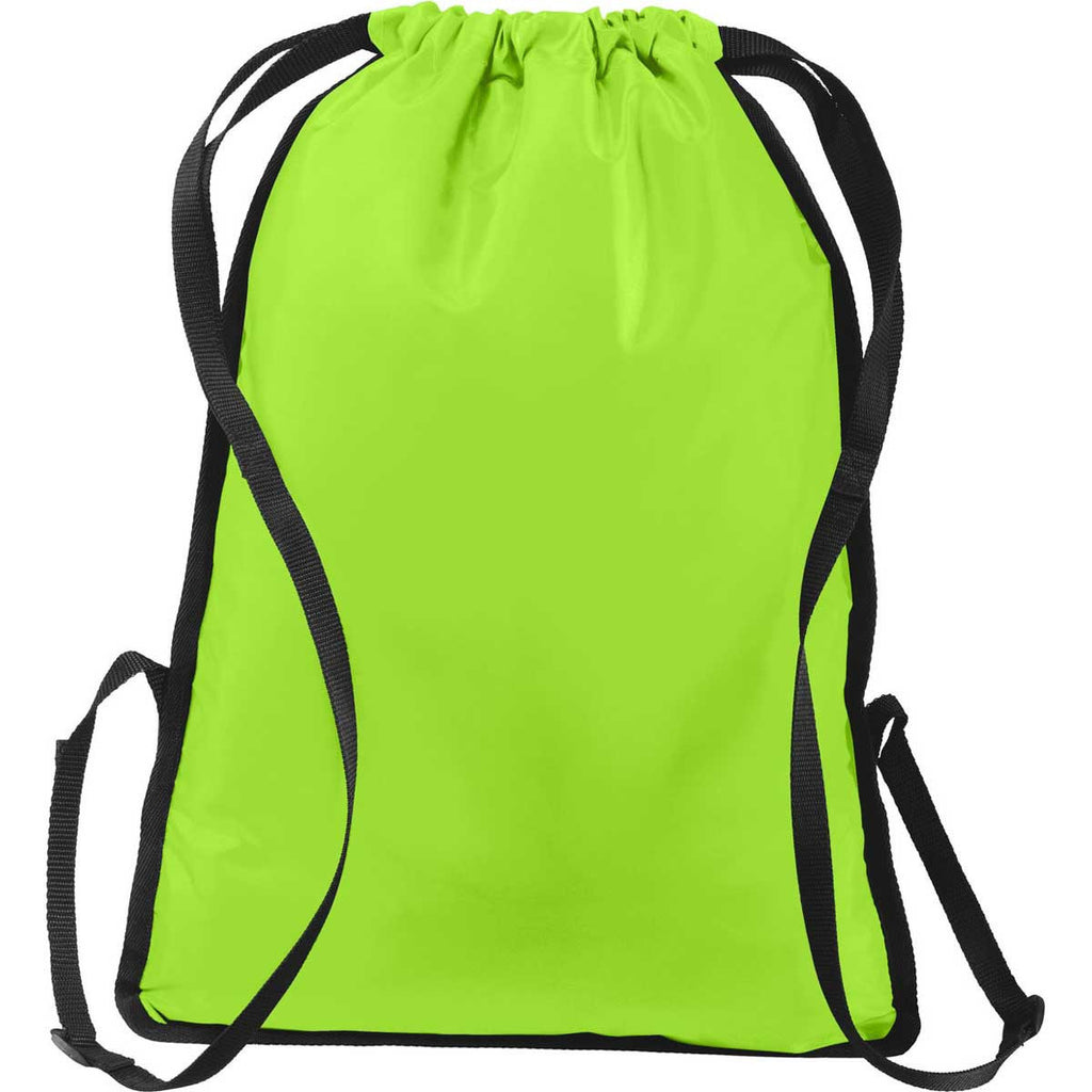 Port Authority Lime Shock/Black Zip-It Cinch Pack