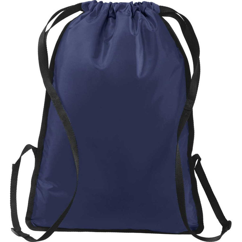 Port Authority True Navy/Black Zip-It Cinch Pack