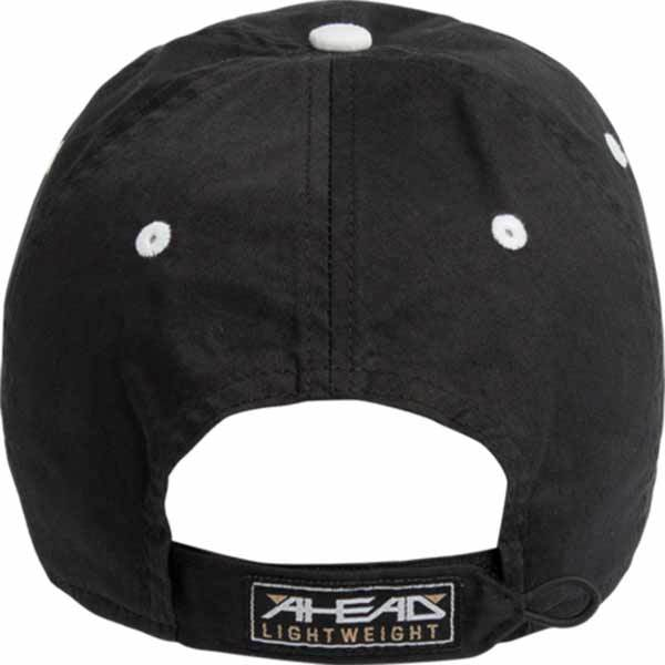 AHEAD Black Lightweight Solid Contrast Stitch Cap