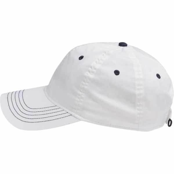 AHEAD White Lightweight Solid Contrast Stitch Cap