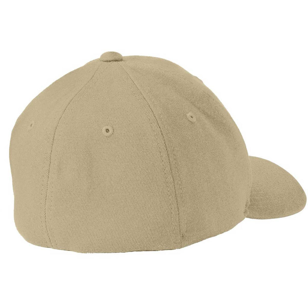 Port Authority Khaki Flexfit Wool Blend Cap