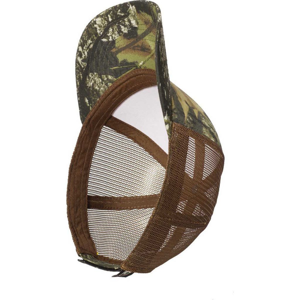 Port Authority Mossy Oak New Break Up/Brown Structured Camouflage Mesh Back Cap
