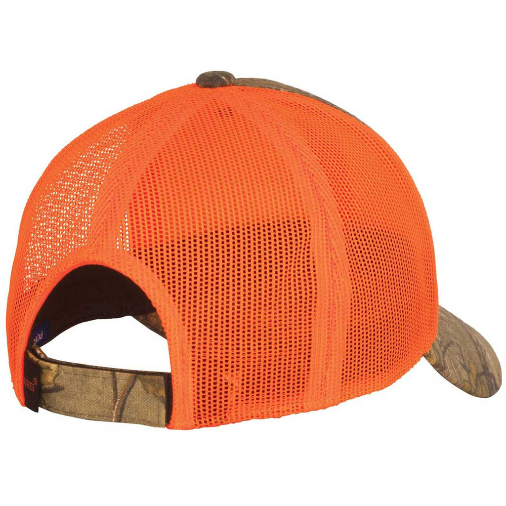 Port Authority Realtree Xtra/Neon Orange Structured Camouflage Mesh Back Cap