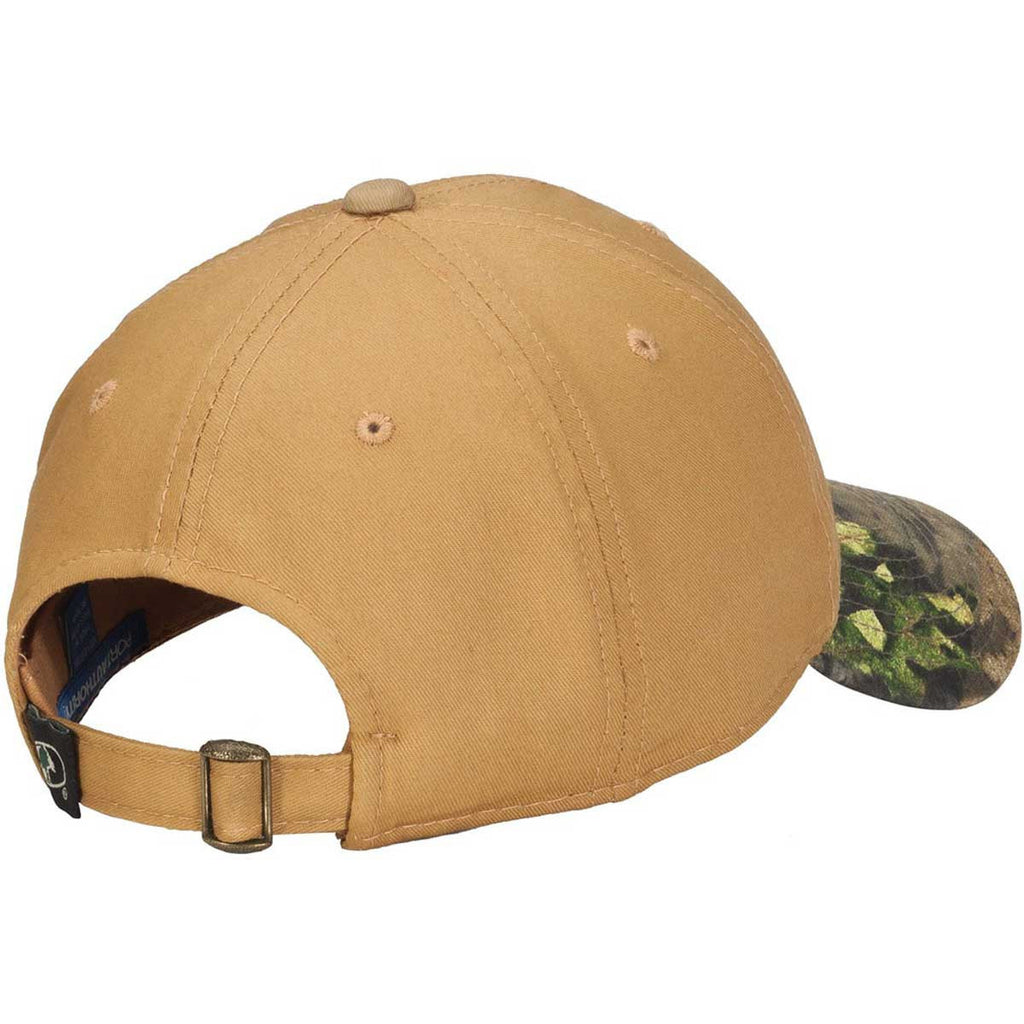 Port Authority Tan/Mossy Oak Break Up Country Twill Cap with Camouflage Brim
