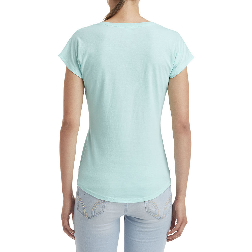 Anvil Women's Teal Ice Triblend V-Neck Tee
