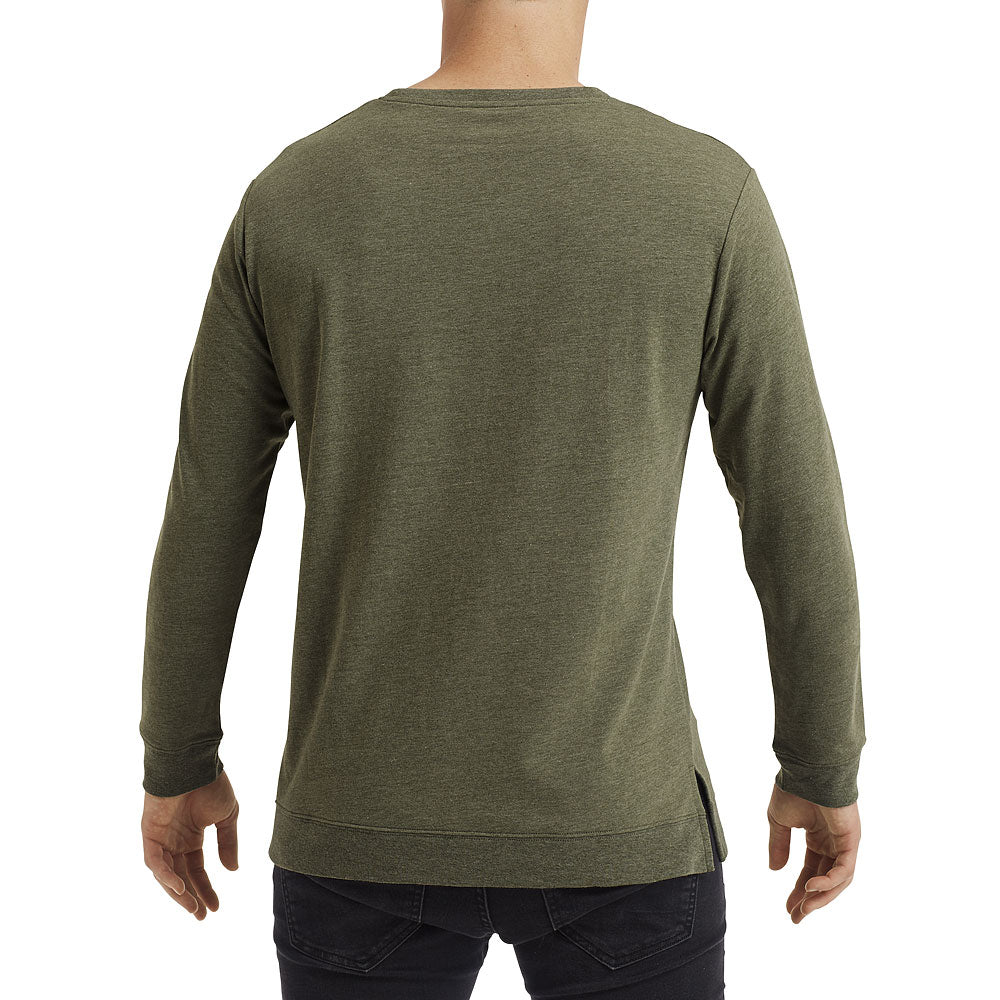 Anvil Unisex Heather City Green Light Terry Crew