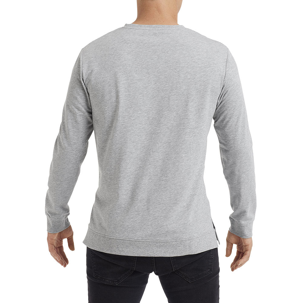 Anvil Unisex Heather Grey Light Terry Crew