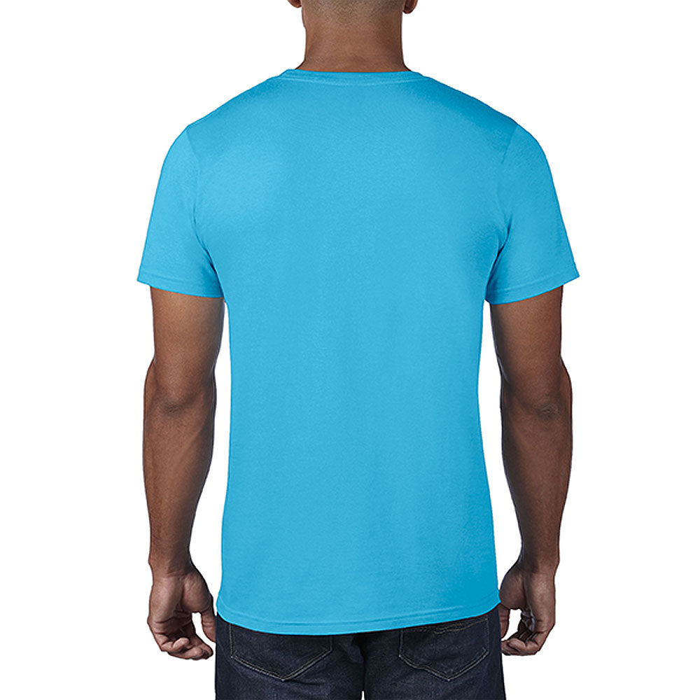 Anvil Men's Heather Caribbean Blue Lightweight Tee