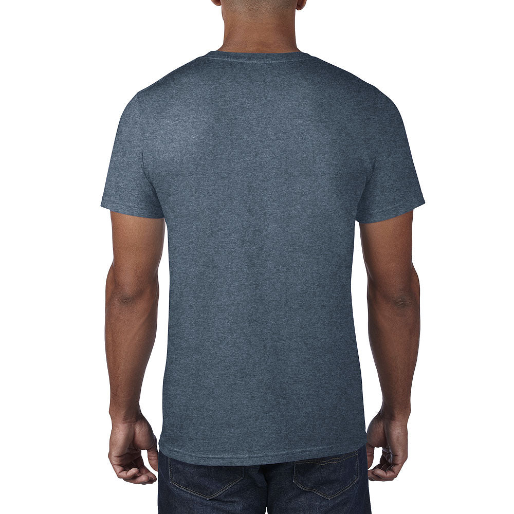 Anvil Men's Heather Navy Lightweight Tee