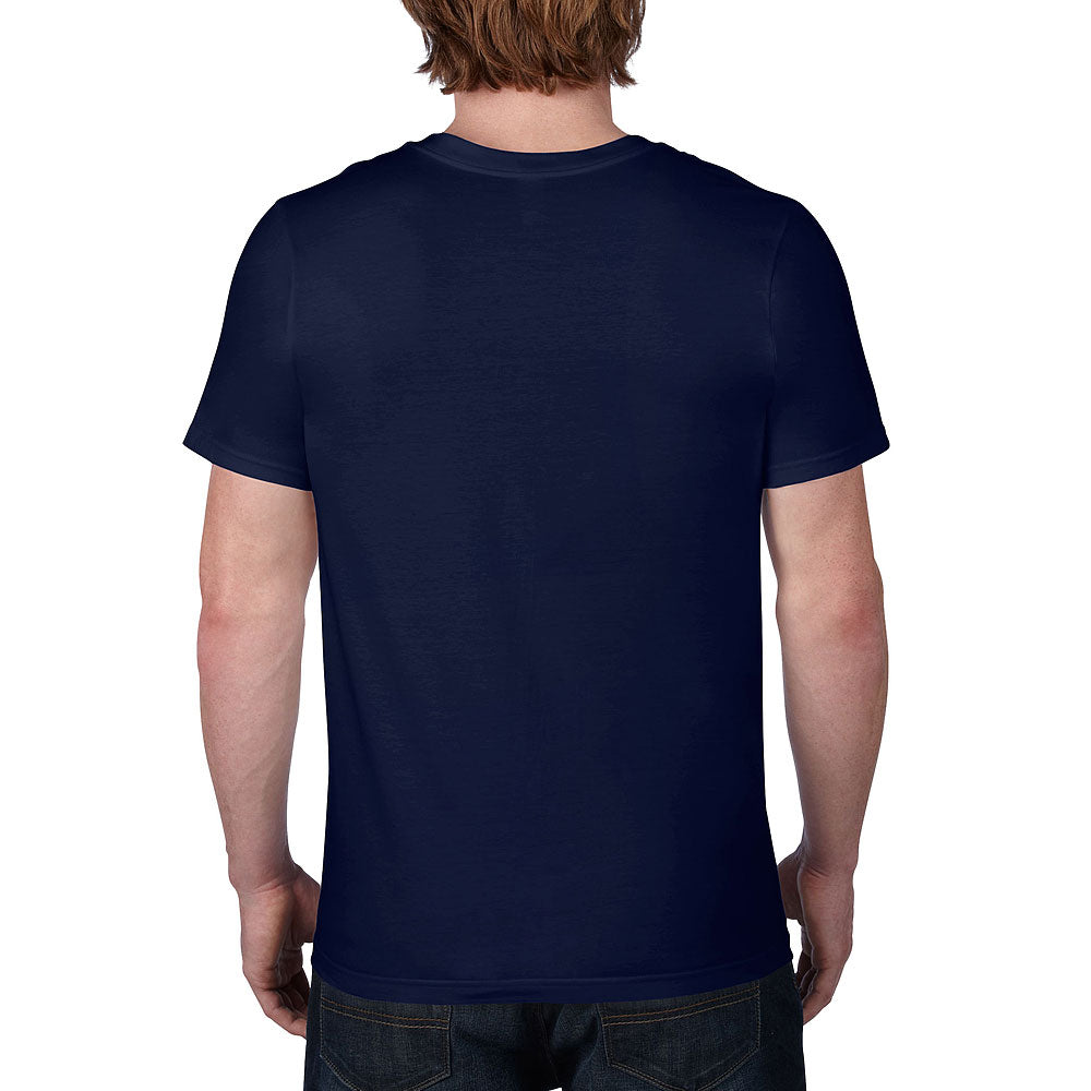 Anvil Men's Navy Lightweight V-Neck Tee