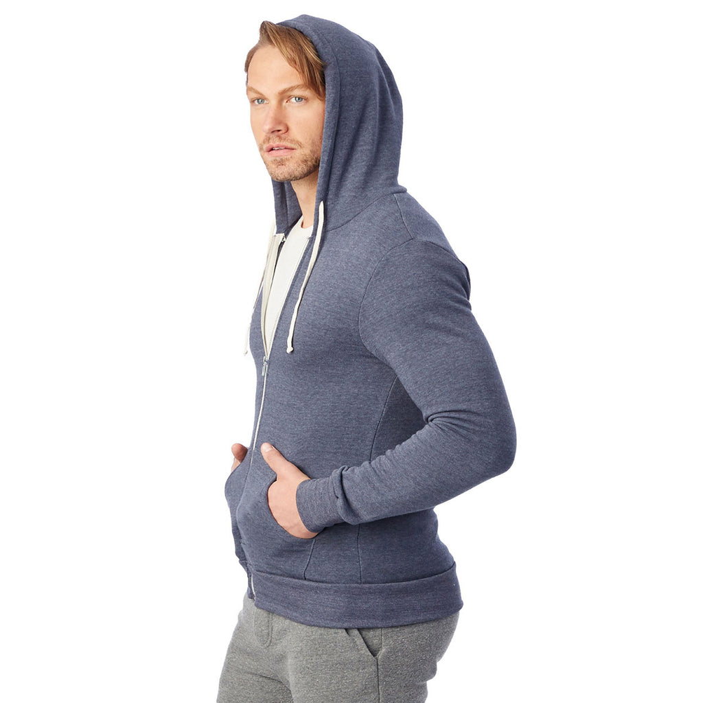 Alternative Unisex Eco True Navy Rocky Fleece Zip Hoodie