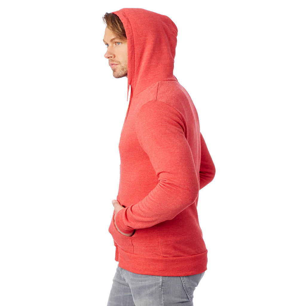 Alternative Unisex Eco True Red Rocky Fleece Zip Hoodie