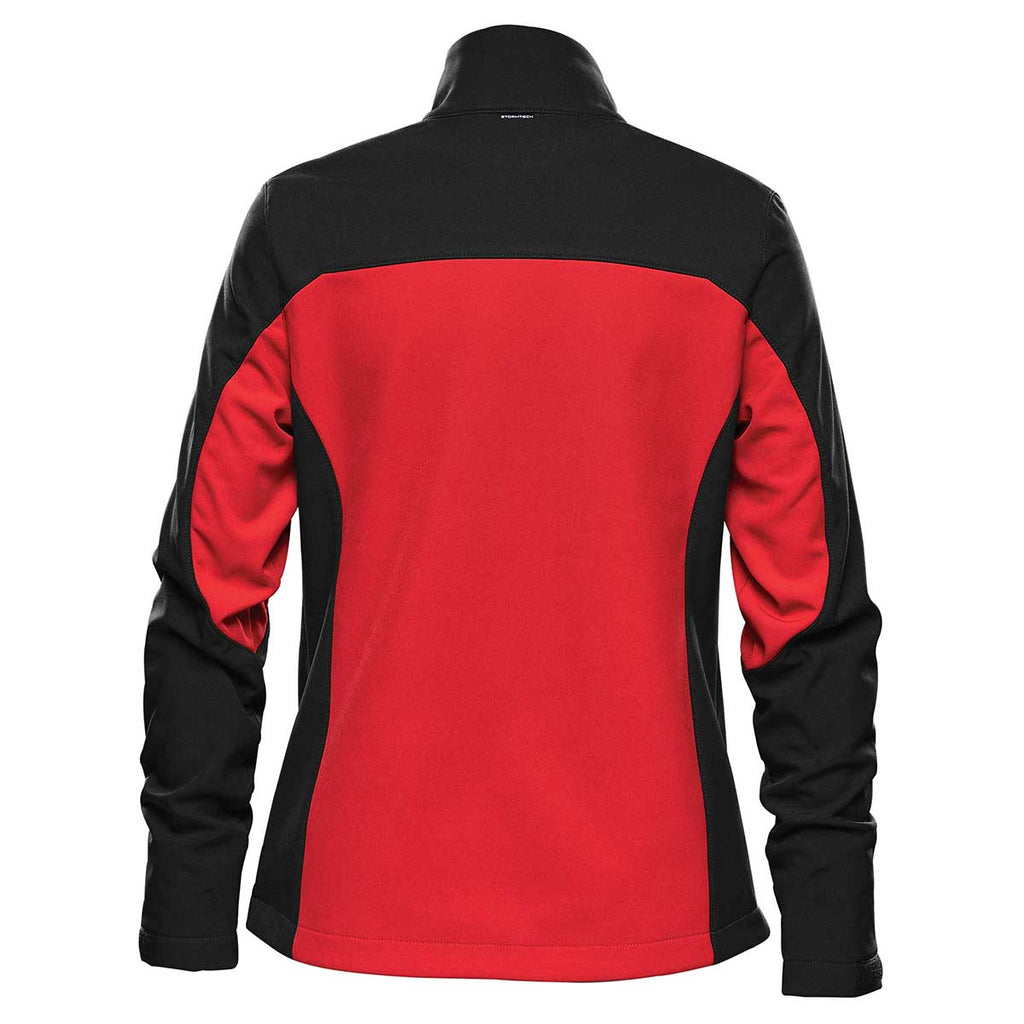 Stormtech Women's Bright Red/Black Cascades Softshell