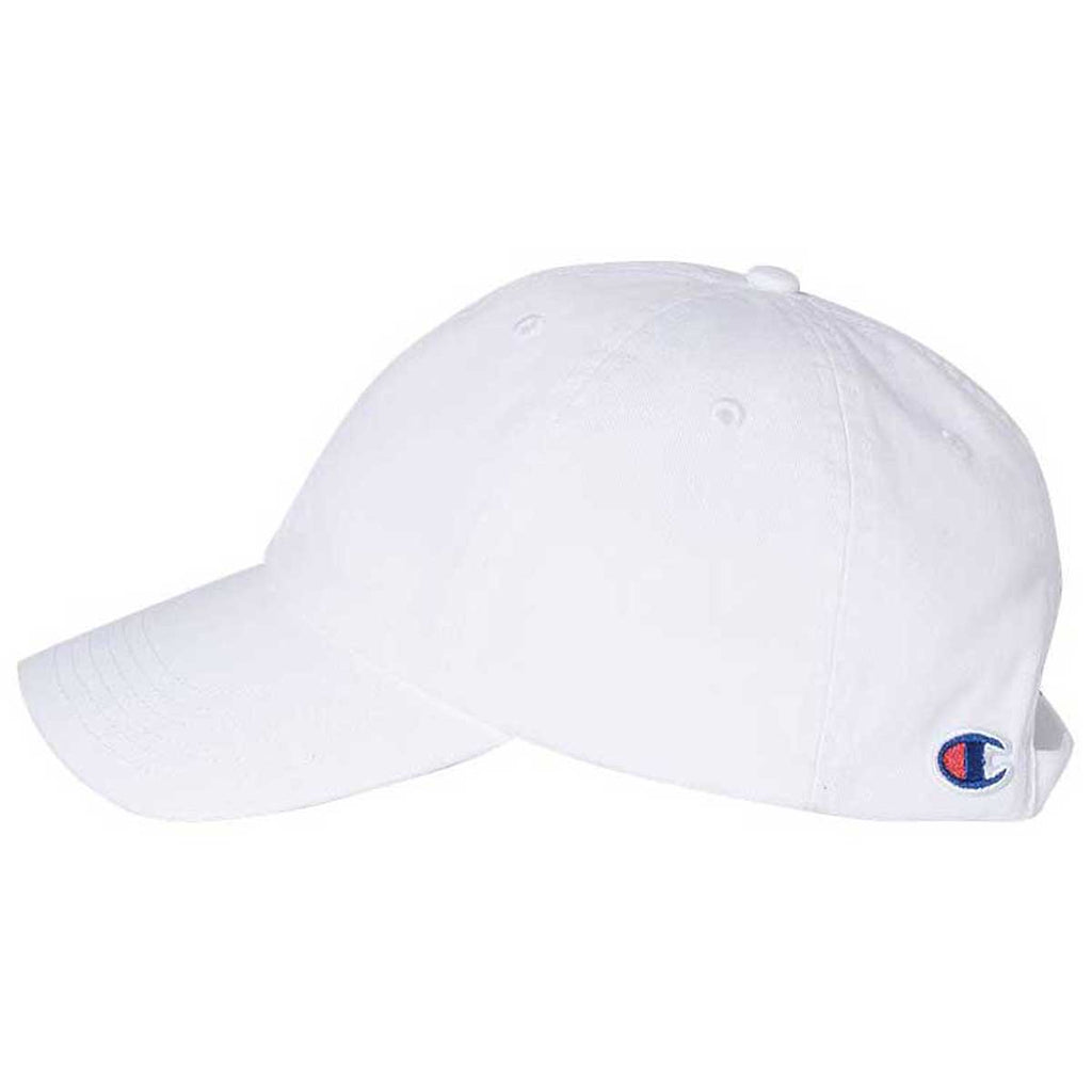 Champion White Washed Twill Dad Hat