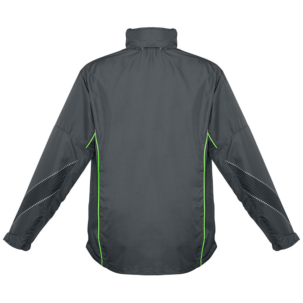 Biz Collection Men's Grey/Fluoro Lime Razor Team Jacket