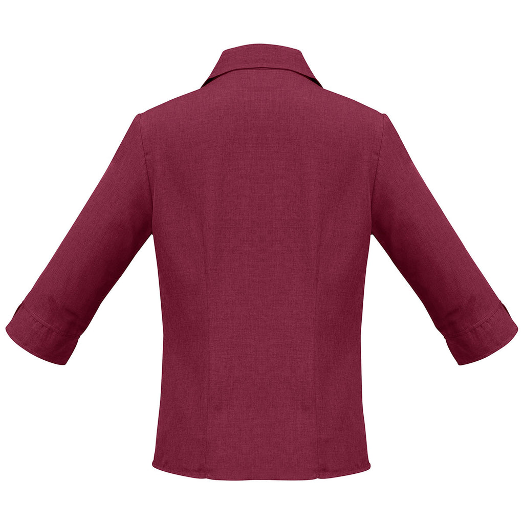 Biz Collection Women's Cherry Plain Oasis 3/4 Sleeve Shirt