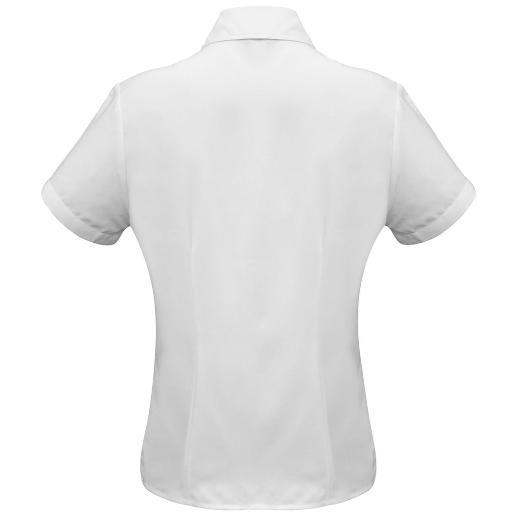 Biz Collection Women's White Plain Oasis Short Sleeve Shirt