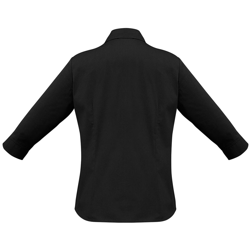 Biz Collection Women's Black Metro 3/4 Sleeve Shirt