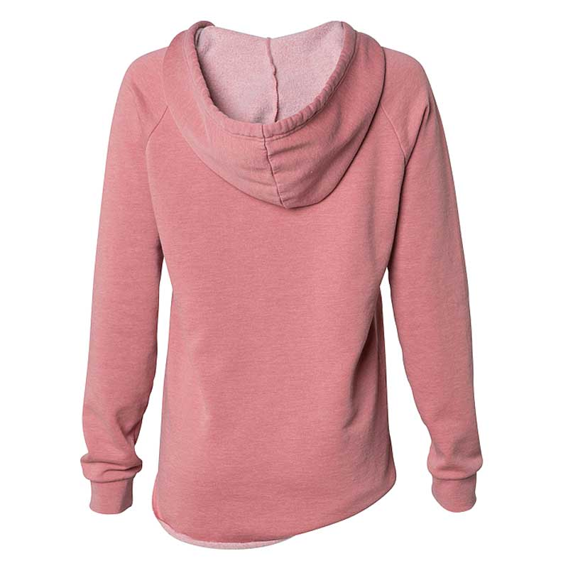 Independent Trading Co. Women's Dusty Rose California Wave Wash Hooded Pullover