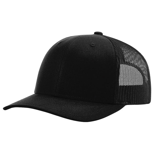 b9451c779ce Richardson Black Trucker Snapback