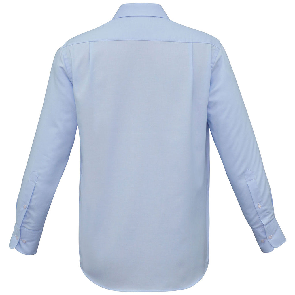 Biz Collection Men's Blue Luxe Long Sleeve Shirt