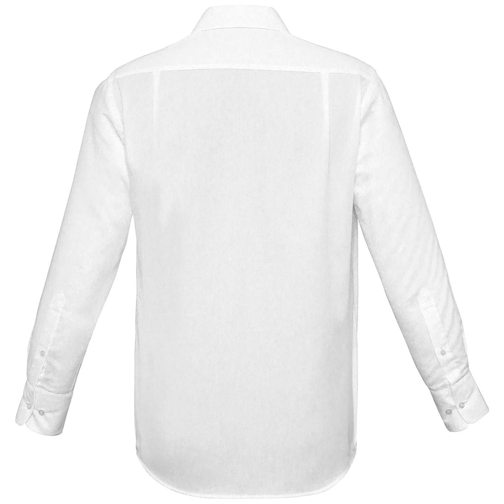 Biz Collection Men's White Luxe Long Sleeve Shirt