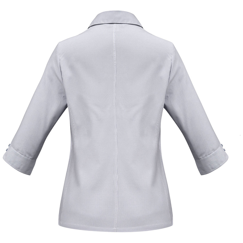 Biz Collection Women's Silver Grey Ambassador 3/4 Sleeve Shirt