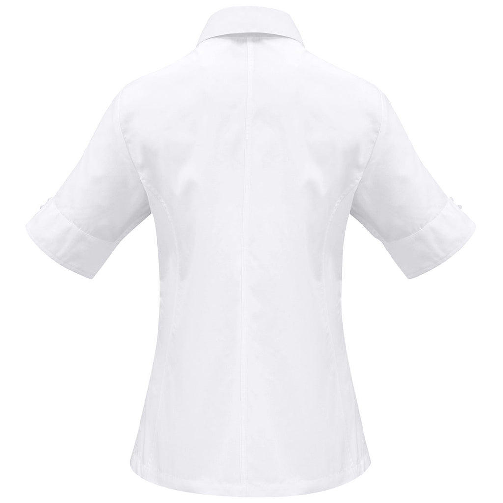 Biz Collection Women's White Ambassador Short Sleeve Shirt