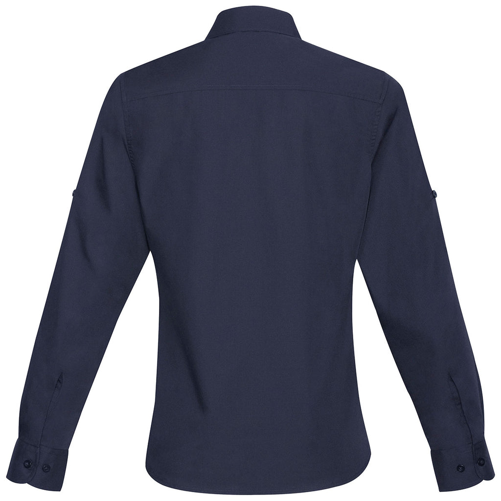 Biz Collection Women's Navy Bondi Long Sleeve Shirt