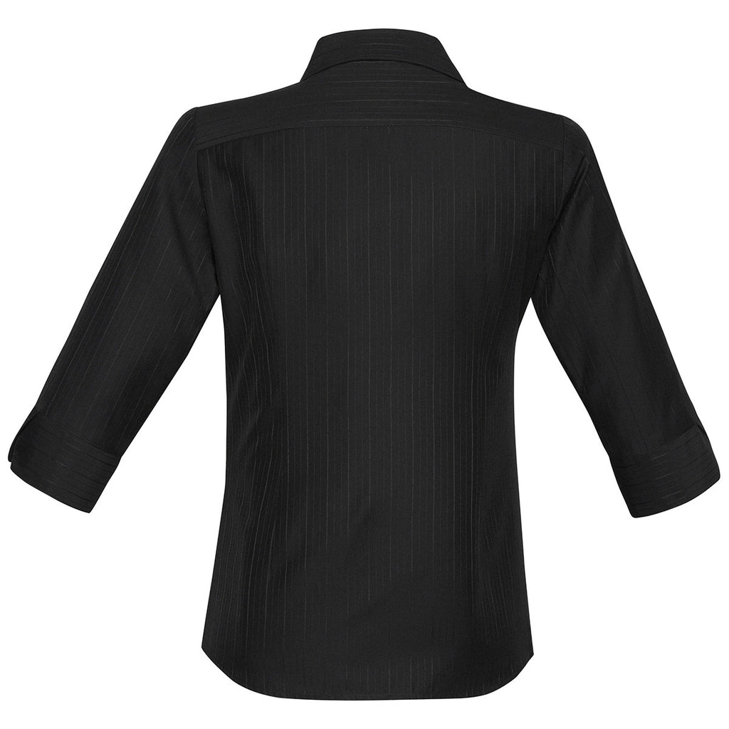 Biz Collection Women's Black Preson 3/4 Sleeve Shirt