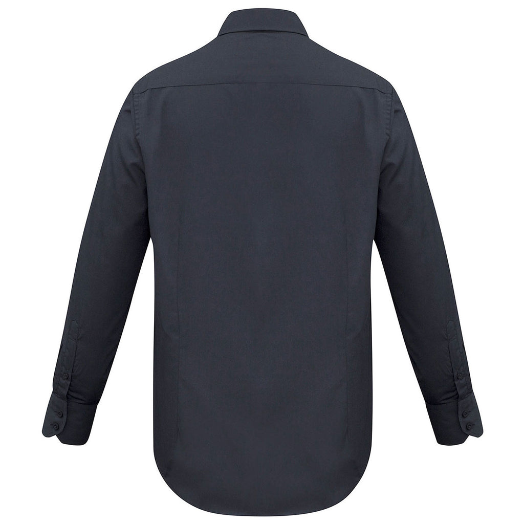 Biz Collection Men's Charcoal Metro Long Sleeve Shirt