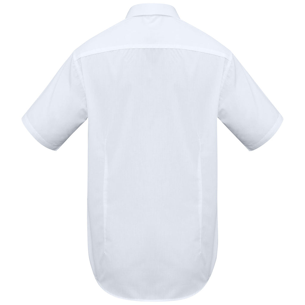 Biz Collection Men's White Metro Short Sleeve Shirt