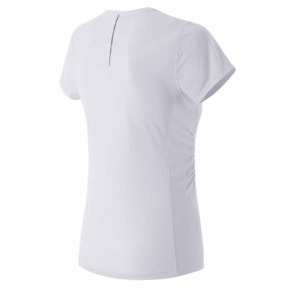 New Balance Women's White 5 Tech Run Tee