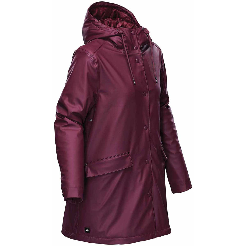 Stormtech Women's Burgundy Waterfall Insulated Rain Jacket