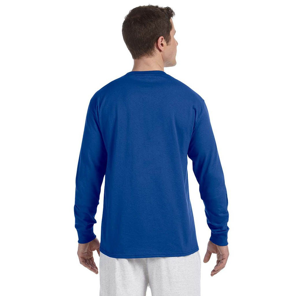 7aae4f5b4135 Champion Men s Royal Long Sleeve Tee